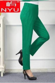邮多多淘宝集运转运中年女士休闲裤外穿妈妈秋装大码棉春季高腰弹力中老年宽松女。