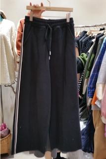 邮多多淘宝集运转运韩国代购东大门新款女装Reve 女士百搭束腰宽松休闲裤均码