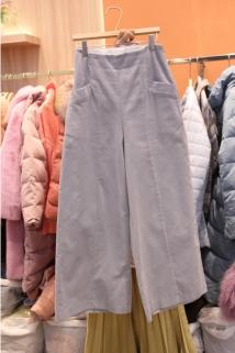 邮多多淘宝集运转运韩国东大门代购2019新款Peach-S 女士百搭简洁插袋休闲裤M码