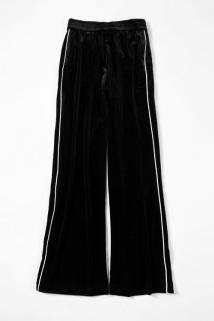 邮多多淘宝集运转运【炫研】季新品上新女士精品休闲裤白色边条纹181185