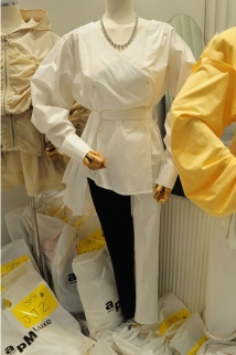 邮多多淘宝集运转运韩国东大门代购2020新款RARO 女士不对称塑形休闲裤S/M/L码