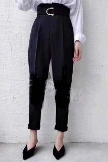 邮多多淘宝集运转运2020春夏新款时尚百搭女士精品九分休闲西裤