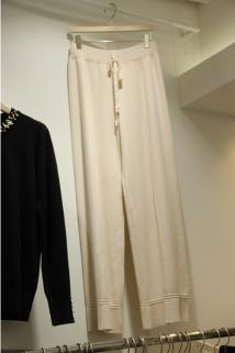 邮多多淘宝集运转运韩国东大门代购2019新款String 女士宽松系带针织休闲裤均码