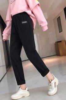 邮多多淘宝集运转运女士口袋英伦风2019年垮裤大码秋冬新款个性英文小个子休闲裤女装