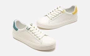 淘宝集运转运到墨西哥热风2020年春季新款女士潮流时尚休闲鞋拼色圆头小白鞋