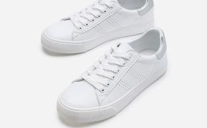 淘宝集运转运到墨西哥热风春季新款潮流时尚女士休闲鞋圆头系带小白鞋
