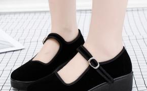 淘宝集运转运到新西兰新款老北京布鞋女士工作单鞋平底坡跟女鞋舒适妈妈鞋松糕底舞蹈鞋