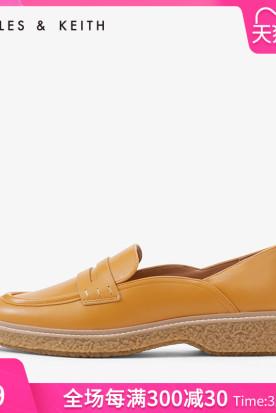 美国国内快递到CHARLES&KEITH乐福鞋CK1-70380709休闲舒适女士橡胶底便士乐福鞋时效