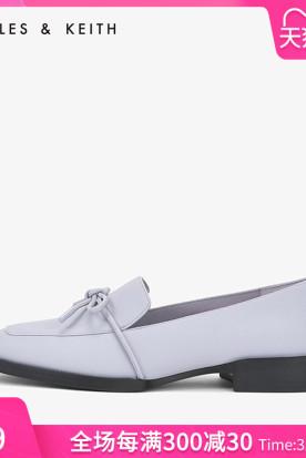 美国国内快递到CHARLES&KEITH乐福鞋CK1-70900120蝴蝶结饰女士方头平底乐福鞋时效