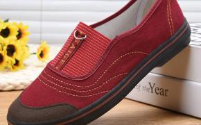 淘宝集运转运到韩国赛格女士老北京布鞋女正品奶奶鞋中年休闲工地干活穿的鞋子一脚蹬