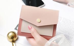 淘宝集运转运到荷兰KQueenStar女士钱包女2019新款拼色信封短款多功能卡包钱夹零钱包
