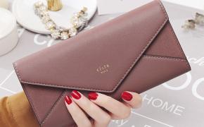 淘宝集运转运到荷兰KQueenStar女士钱包女长款2019新款日韩个性简约信封式折叠钱夹