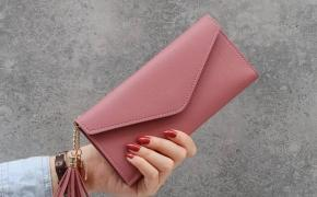 淘宝集运转运到日本新款简约女士钱包女长款三折钱夹软皮流苏学生韩版可爱零钱包卡包