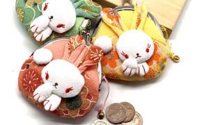 淘宝集运转运到日本日本和风布艺小兔子可爱卡通女士钥匙零钱包多色江浙沪3个包邮