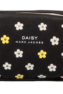 邮多多淘宝集运转运随身便携黑色帆布化妆包大容量旅行收纳整理包可爱小雏菊洗漱包