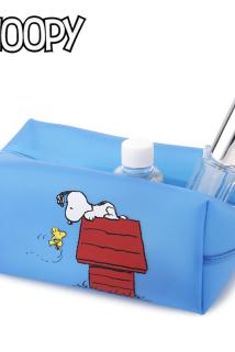 邮多多淘宝集运转运史努比卡通PVC软胶化妆包收纳包大容量防水换洗包便携旅行收纳包