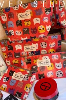 邮多多淘宝集运转运化妆包小号便携大容量防水随身韩国东大门代购卡通小猫收纳包旅行