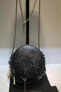 邮多多淘宝集运转运Bolesiga伯乐世家小圆包女2020流行时尚斜挎圆形链条包牛皮化妆包