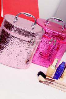 邮多多淘宝集运转运时尚可爱化妆包大容量防水定型化妆箱手提便携化妆品收纳包简约款