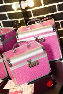 邮多多淘宝集运转运密码锁双层化妆包大容量手提化妆箱专业跟妆师便携化妆品收纳盒箱