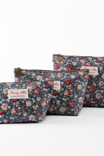 邮多多淘宝集运转运韩版可爱碎花图案小化妆包 防水创意随身零钱包便携收纳包洗漱包