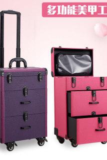 邮多多淘宝集运转运专业大容量多功能多层大号美甲纹绣化妆跟妆美容文眉收纳工具箱包