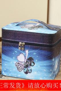 邮多多淘宝集运转运化妆包女大号多功能简约便携护肤品收纳盒可爱卡通多层化妆箱手提