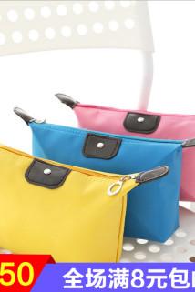 邮多多淘宝集运转运大容量防水化妆包便携迷你化妆袋旅行手拿包韩国口红化妆品收纳包