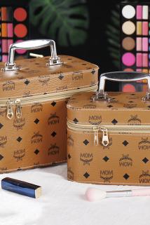 邮多多淘宝集运转运大容量化妆包pu印花多功能小号便携手提收纳包品盒简约化妆箱网红