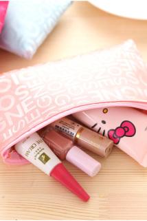 邮多多淘宝集运转运创意字母迷你化妆包ins韩国可爱便携简约手拿包小号防水洗漱包