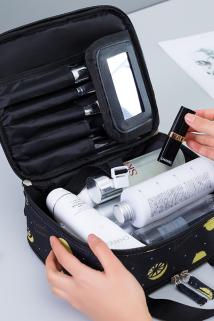 邮多多淘宝集运转运多功能化妆包女小便携韩国简约大容量旅行收纳包随身洗漱品盒袋