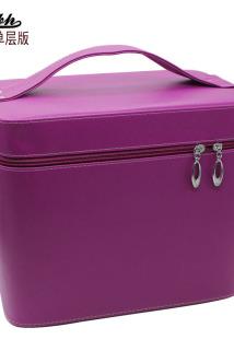 邮多多淘宝集运转运手提化妆箱超大容量化妆包纯色产品整理收纳箱示范工具箱包定LOGO