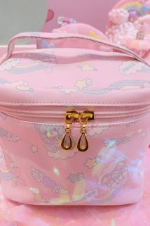 邮多多淘宝集运转运日系可爱彩虹熊大容量化妆包女多功能便携手提收纳包旅行收纳袋