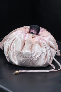 邮多多淘宝集运转运懒人抽绳化妆包女便携大容量化妆品收纳包多功能少女心束口化妆袋