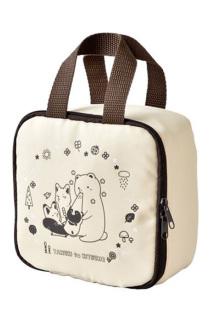 邮多多淘宝集运转运日系杂志款タヌキとキツネbook 可爱狐狸 手提化妆包 旅行收纳袋