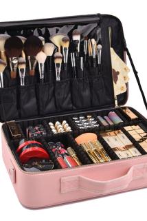 邮多多淘宝集运转运大容量化妆包 网红同款防水旅行洗漱手提化妆箱 便携化妆品收纳包