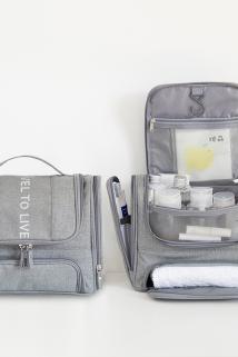 邮多多淘宝集运转运化妆包女ins风便携网红大容量多功能 防水洗澡旅行手提洗漱收纳袋