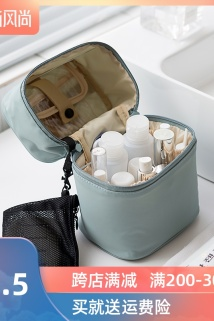 邮多多淘宝集运转运北欧ins化妆包网红少女清新简约便携大容量多功能小号旅行收纳包