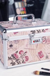 邮多多淘宝集运转运铝合金化妆箱双层大容量收纳盒品网红小号便携专业带锁化妆包手提