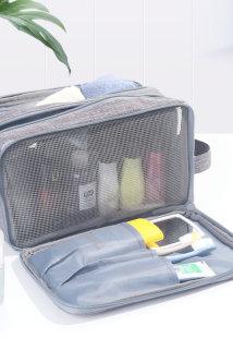 邮多多淘宝集运转运便携旅行洗漱包收纳包袋 干湿分离多功能大容量ins风手提化妆包