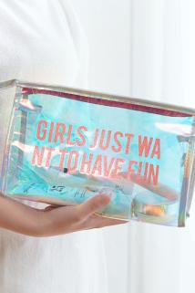 邮多多淘宝集运转运ins风超火化妆包网红同款小号便携韩国简约可爱少女心用品收纳袋