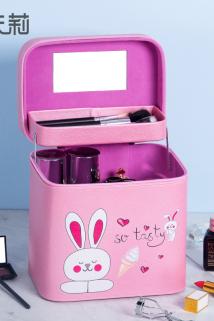 邮多多淘宝集运转运ins化妆包少女便携大容量多功能网红化妆品收纳盒简约化妆箱手提