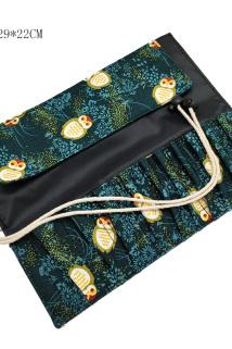 邮多多淘宝集运转运末颜 10孔24孔化妆刷包收纳包化妆包刷子收纳袋便携帆布PU皮空包
