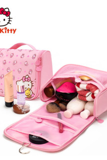 邮多多淘宝集运转运hellokitty凯蒂猫旅行洗漱包女便携旅游出差可爱防水化妆包收纳袋