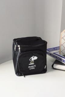 邮多多淘宝集运转运可爱酷酷的史努比立体盒型手提黑色大容量化妆包多功能旅行收纳包