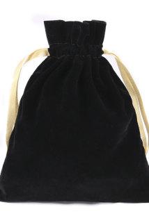 邮多多淘宝集运转运黑色丝绒抽绳化妆包大容量旅游出差便携收纳包束口袋化妆品收纳袋