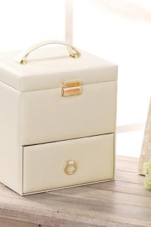 邮多多淘宝集运转运化妆箱手提专业多层木质抽屉式日本化妆品收纳盒包家用大号带镜子