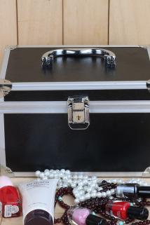 邮多多淘宝集运转运化妆箱包带锁便携收纳盒手提专业跟妆工具双层叶罗丽新娘铝镁合金