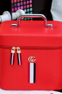 邮多多淘宝集运转运化妆包女便携大容量韩国手提化妆品收纳盒防水小号简约网红化妆箱