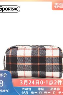 邮多多淘宝集运转运LeSportsac乐播诗便携格子印花小容量零钱包手拿包化妆包6511